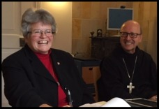 Sister Lynn Marie and Abbot Primate Gregory Polan