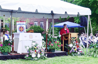 Sister Cecilia Dwyer during 125th celebration